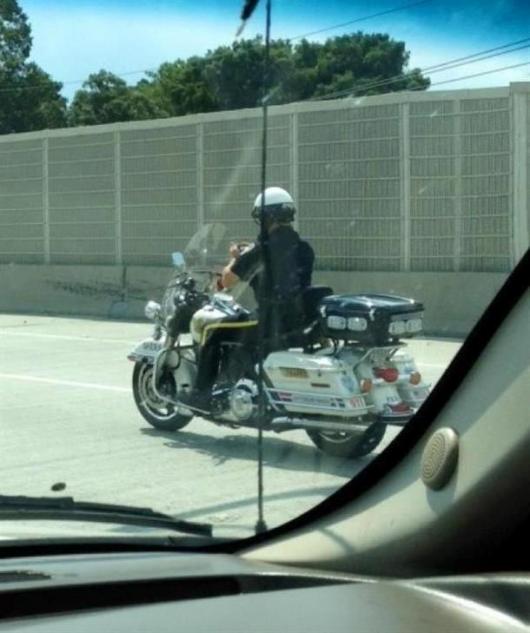Bike Cop Texting