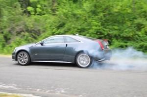 CTS-V rolling burnout