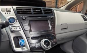 2013 Prius V center stack picture