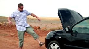kick the car pic