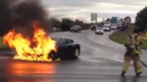 Tesla fire pic