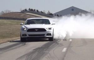 '15 Mustang burn tires