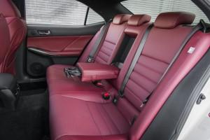 '15 IS 350 F sport back seats detail
