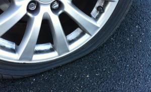 VW Passat tire