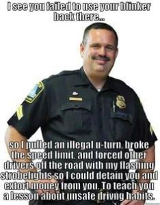 hypocrite cop