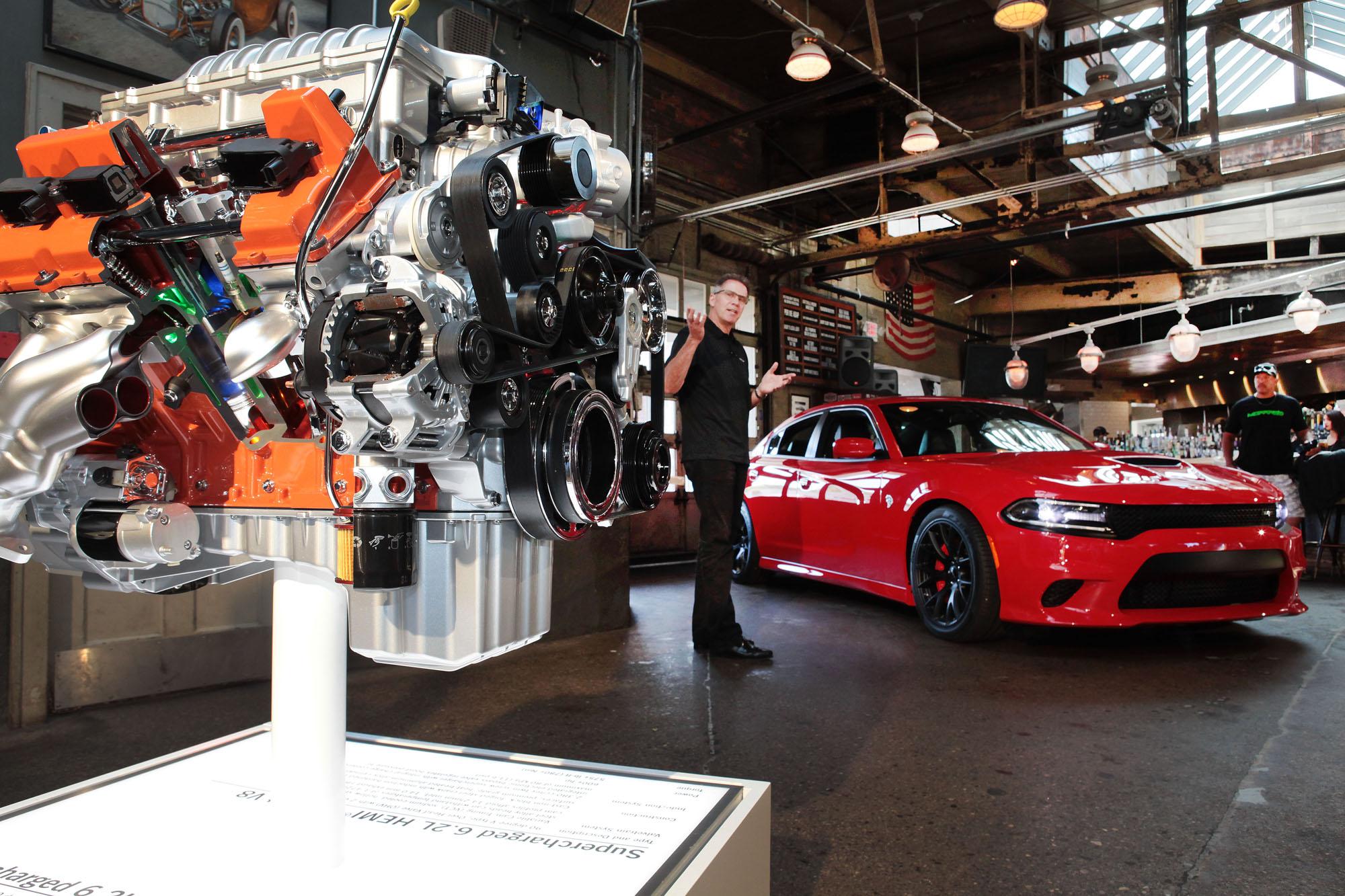 berkley mich august 13 2014 mark rudisueli head of - 2015 Dodge Challenger Srt With The Hemi Hellcat Engine