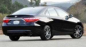 '15 Camry hybrid rear view