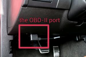 OBD II port pic