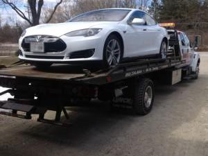 Tesla towed