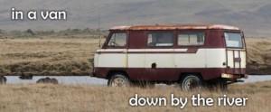 van by the river