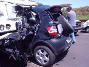 wrecked Smartcar