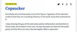 cop sucker