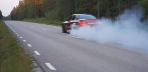 '16 BMW burnout