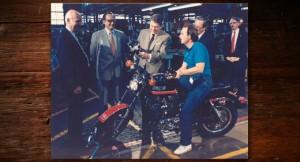 Reagan with Harley