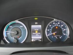 '16 Camry hybrid gauges