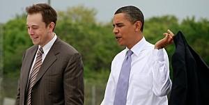elon with obama