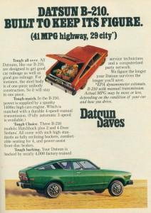 '76 Datsun ad