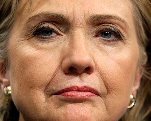 Hillary face
