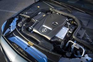 Pressefahrveranstaltung Mercedes Benz, C-Klasse, Malaga 2015, C300 Coupe, edition1, designo selenitgrau magno, Artico schwarz/nussbraun, Airmatic